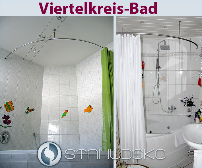 Dusche Vorhang Stange : Quarter Round Shower Curtain Rod