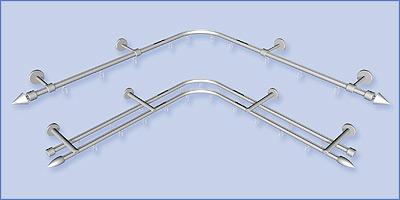Gardinenstange Ecke aluprofile ø 16mm aluminium durchschleuderecke incl 2
