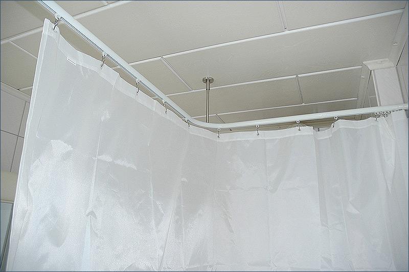 duschstange l form f r dusche badewanne oder barrierefreier duschbereich f r behinderten. Black Bedroom Furniture Sets. Home Design Ideas