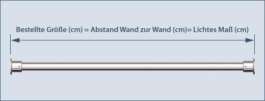 Duschvorhang Stange O 16mm Edelstahl Gerade Duschwannen Abtrennung