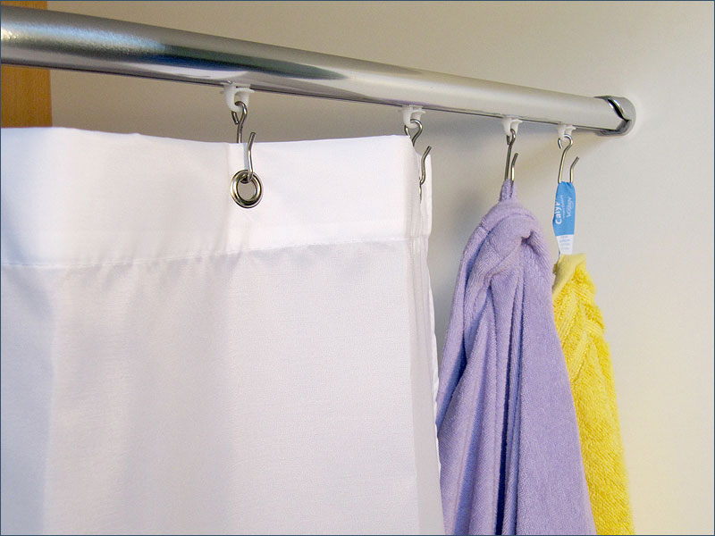 gleiter mit edelstahlhaken f r duschvorh nge oder schwere. Black Bedroom Furniture Sets. Home Design Ideas