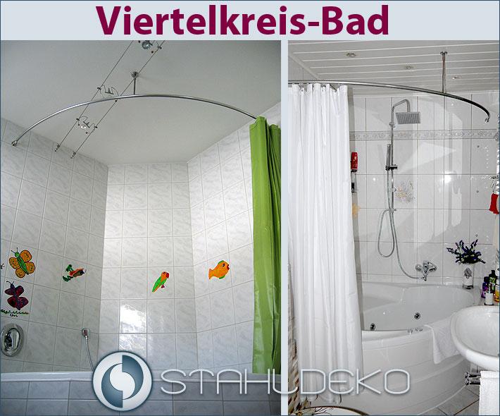 Runde Duschvorhangstange für Viertelkreis-Badewanne