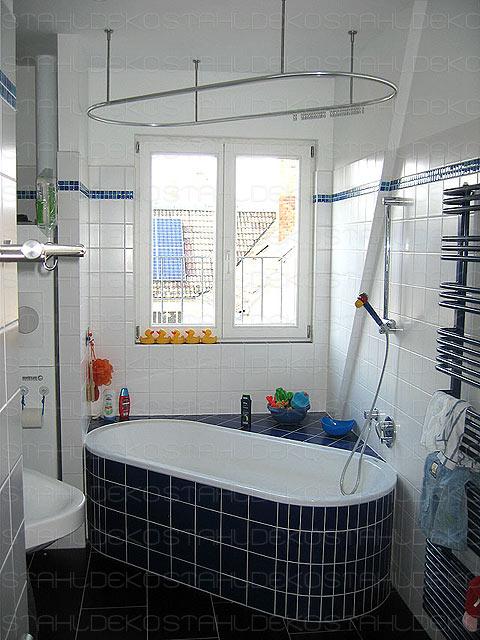 Duschvorhangstange Für Badewanne : runde duschvorhangstange f r viertelkreis badewanne ~ Watch28wear.com Haus und Dekorationen