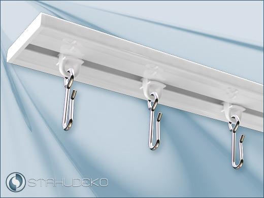 gleiter mit edelstahlhaken f r duschvorh nge oder schwere gardinen. Black Bedroom Furniture Sets. Home Design Ideas