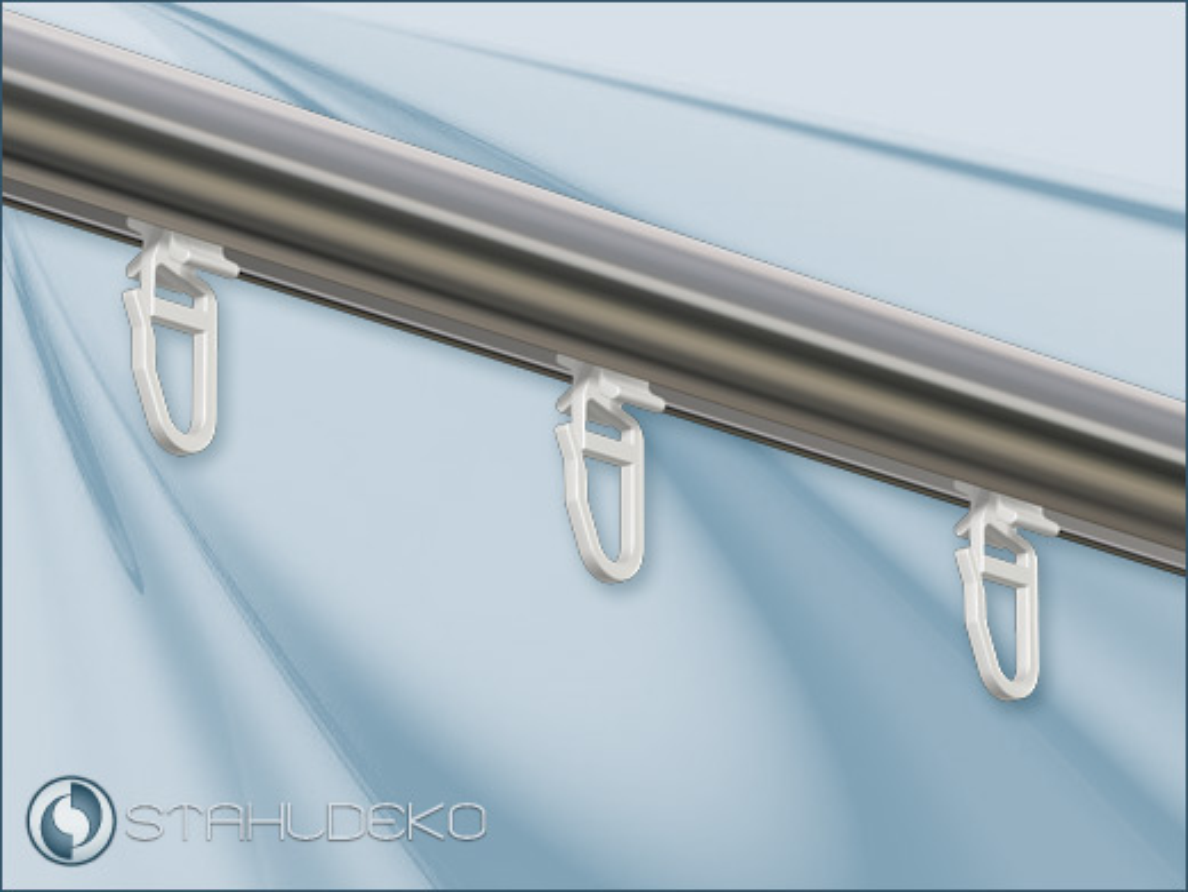 wei e innenlaufstange standard 2 l ufig f r deckenmontage. Black Bedroom Furniture Sets. Home Design Ideas