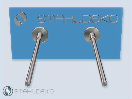 Badezimmer Accessoires - Handtuchstange aus Edelstahl V2A, Sockel ...
