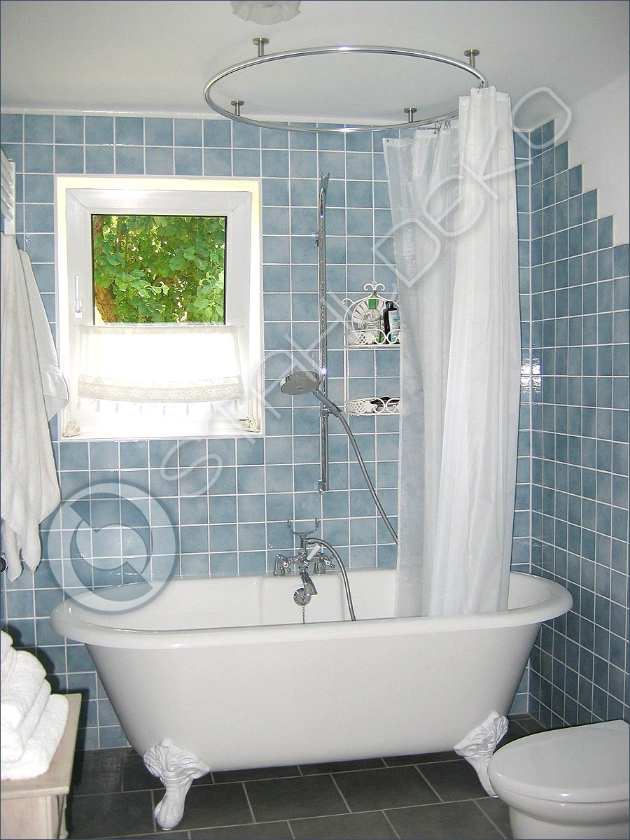 vollkreis duschvorhangstange als ring gebogen f r dusche. Black Bedroom Furniture Sets. Home Design Ideas