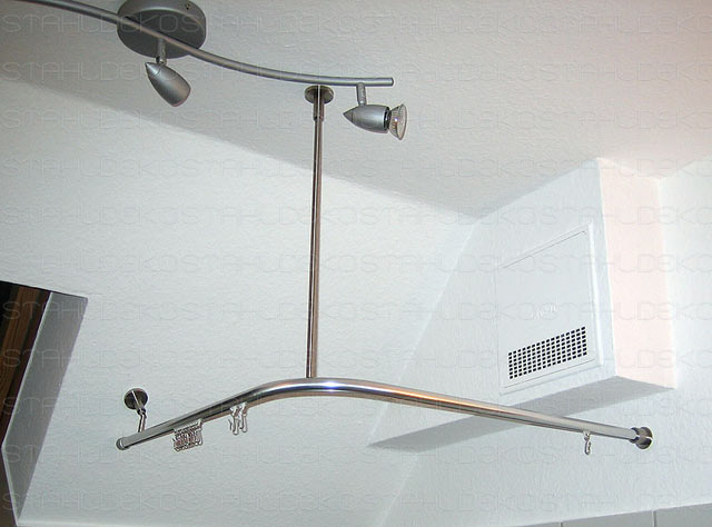 Duschvorhangstange U-Form barrierefrei, für Badewannen
